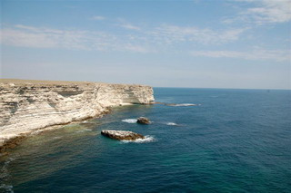 Photo of beaches of the Black Sea on west of the Crimea near the Tarhankut Cape